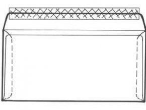 Obálka C6/5 1ks krycí páska vnitřní potisk ELCO