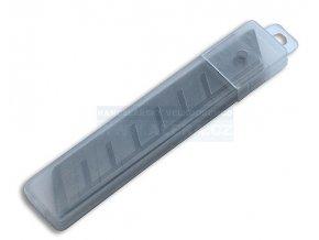 Nůž ulamovací - čepele 18mm, 10ks v plastovém zásobníku