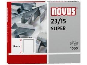 Spony do sešívačky 23/15  1000ks Novus Super