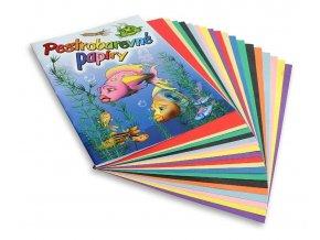 Papír barevný nelep. 20 listů