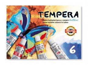 Barva temperová sada 06 barev  Koh-i-noor 162547