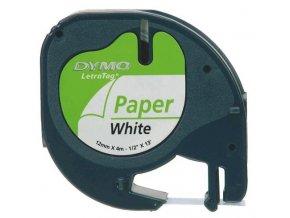 Dymo páska LETRA TAG 12x4m papírová