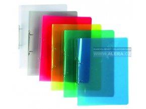 Pořadač 2-kroužky A4  2cm hřbet průhledný plast
