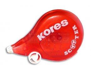 .Korekční strojek Kores Scooter červený