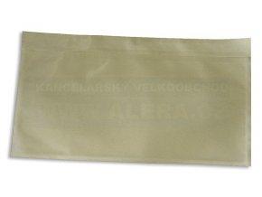 Obálka DL kapsa nalepovací 1kus /transportní obálka na dokumenty/ [ POUZE PO 100 ks ]