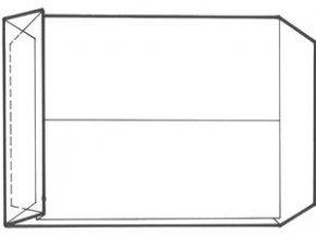 Obálka B4 1ks taška křížové dno sulfitová bělená LAMAX ( baleno po 10-ti kusech)