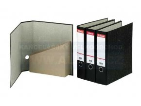 Pořadač Esselte A4 8cm  archivní 36057 černý mramor