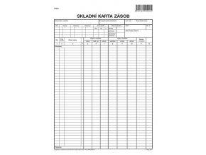 Tiskopis Skladní karta zásob A4 (1ks), OPT 1020