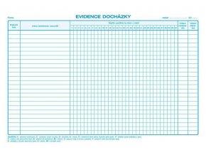 Tiskopis Evidence docházky A4, OPT 1150