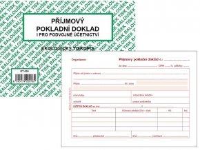 Tiskopis Příjmový pokladní doklad A6 PPD II. BAL EKO  ET030