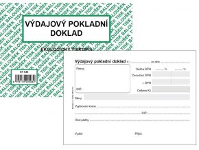 Tiskopis VPD I. Výdajový pokladní doklad A6 BAL EKO  ET040