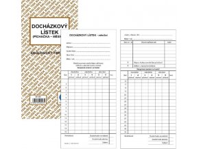 Tiskopis Docházkový lístek-Píchačka oboustranný /10  1/3 A4 BAL EKO ET475
