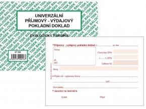 Tiskopis UPVD Univerzální příjmový-výdajový pokladní doklad A6 BAL EKO  ET060