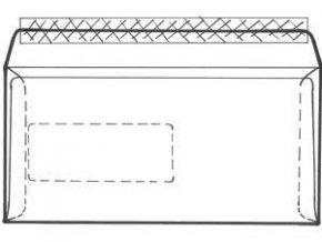 Obálka C6/5 1ks okno vpravo vnitřní potisk krycí páska ELCO