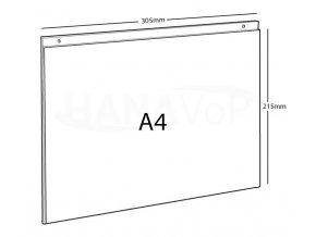 Tabulka PX-OŠ A4 čirá plexisklo