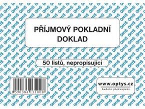 Tiskopis Příjmový pokladní doklad A6 PPD, jednoduchý, 50 listů, OPT 1310