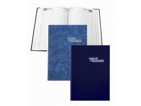 Zboží na objednávku - Diář DENNÍ ZÁZNAMY A4 modrá  368 listů
