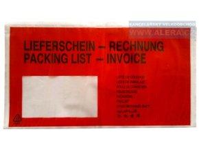 Obálka DL kapsa nalepovací 1 kus potištěná /transportní obálka na dokumenty/ [ POUZE PO 100 ks ]