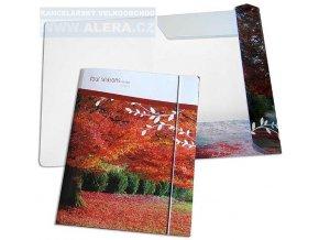 VÝPRODEJ - Mapa odkládací 253  3klopá lamino guma Podzimní krajina
