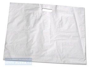 Taška PE průhmat 1ks 62x51cm oděvní bílá  [ POUZE PO 50-ti ks ]