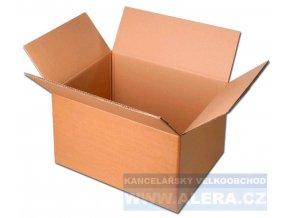 Krabice klopová 305x215x224mm třívrstvá hnědá, dno A4 [ POUZE PO 25-ti ks ]