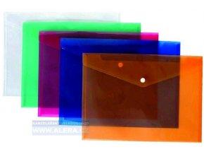Obálka s drukem A5 průhledná modrá, 5ks