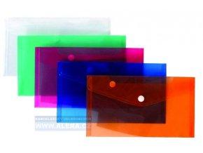 Obálka s drukem DL průhledná oranžová, 5ks