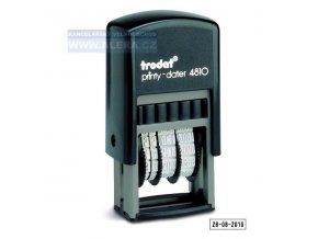 Razítko TR4810 - datumovka - modrá poduška