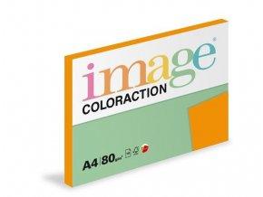 Zboží na objednávku - Papír COLORACTION A4 80g/100 neon oranžová Acapulco NEOOr