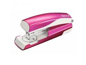 .Sešívačka LEITZ NeXXt 5502 WOW 30listů růžová metalická
