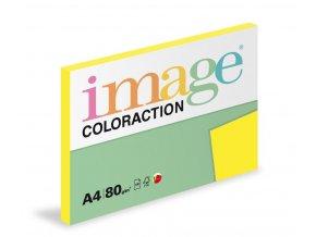 Papír COLORACTION A4 80g/100 neon žlutá Ibiza NEOGb