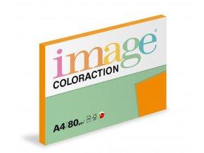 Zboží na objednávku - Papír COLORACTION A4 80g/100 listů Amsterdam cihlově oranžová OR43