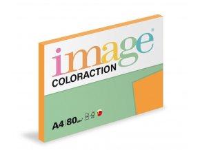 Zboží na objednávku - Papír COLORACTION A4 80g/100 Venezia sytá oranžová AG10