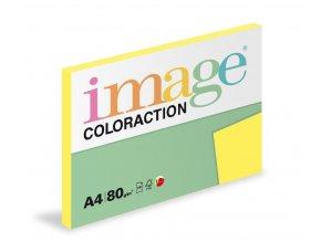 Zboží na objednávku - Papír COLORACTION A4 80g/100 Canary středně žlutá CY39