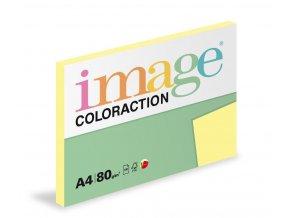 Zboží na objednávku - Papír COLORACTION A4 80g/100 Desert pastelově žlutá YE23