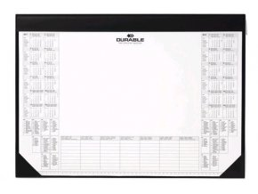 Podložka na stůl 59cm x 42cm Durable 7291 s kalendářem  černá