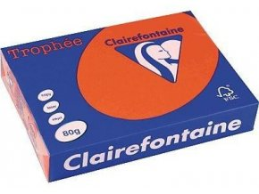 VÝPRODEJ - Papír Clairefontaine A4/120g/250 1217 červená