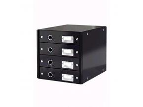 Zboží na objednávku - Zásuvkový box Leitz CLICK-N-STORE 4 zásuvky 60490095  černá
