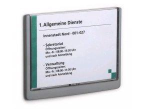 Zboží na objednávku - Informační štítek Click Sign Durable 4866 210x148.5mm grafitová