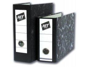 Pořadač HIT A5 formát!!! 8cm pákový na výšku mramor černý