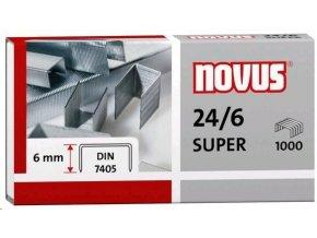 Spony do sešívačky 24/6  1000ks Novus Super