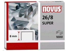 Spony do sešívačky 26/8  1000ks Novus Super