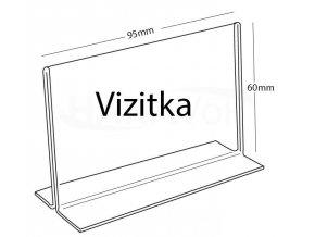 Stojánek PX-TŠ 60 x 95 na vizitky čirá plexisklo