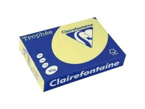 VÝPRODEJ - Papír Clairefontaine A4/120g/250 1207 žlutá
