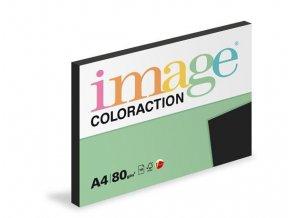 Papír COLORACTION A4 80g/100 listů Black černá
