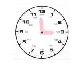 Papírové hodiny bílé