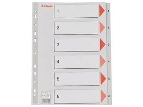 VÝPRODEJ - Rozřaďovač A4 1- 6 listů plastový Esselte 100104
