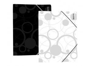 Mapa odkládací 3klopá,PP,guma Black & White černá