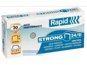 Spony do sešívačky 24/6  1000ks Rapid Strong