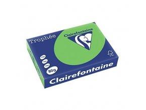 VÝPRODEJ - Papír Clairefontaine A4/160g/250 1025 intenzivní zelená